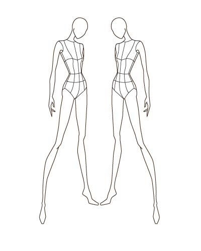 Fashion sketch templates thinkitpink for Textiles body templates