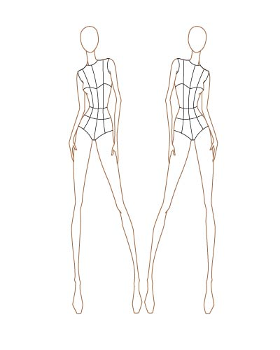 Fashion sketch templates thinkitpink for Fashion designing templates free download