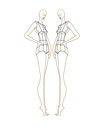 fashion sketch templates